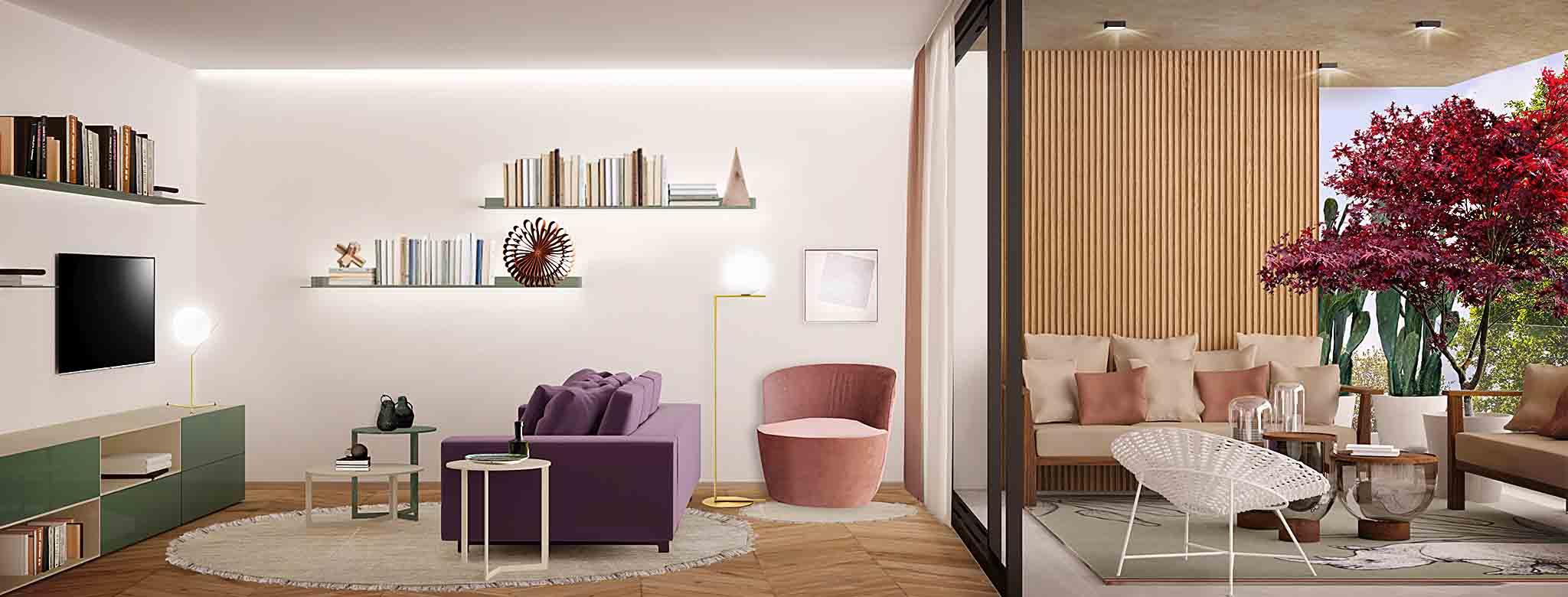 Salotto degli appartamenti Elegance